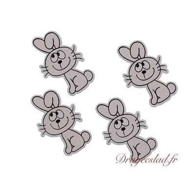 Stickers lapin en bois
