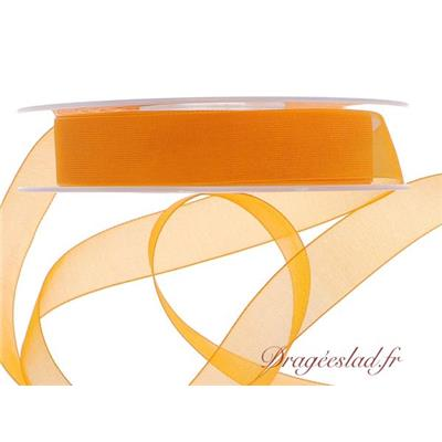 Ruban organdi orange 15 mm