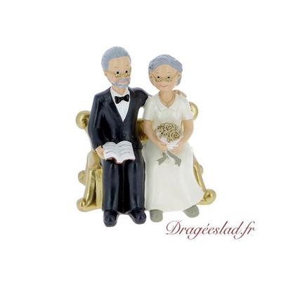 Figurine couple Papy Mamie