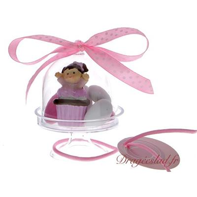 Mini cloche dragées Camille Cupcake