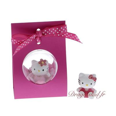 Support boule fuchsia dragées Hello Kitty