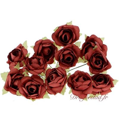 Bouquet de 12 roses rouge