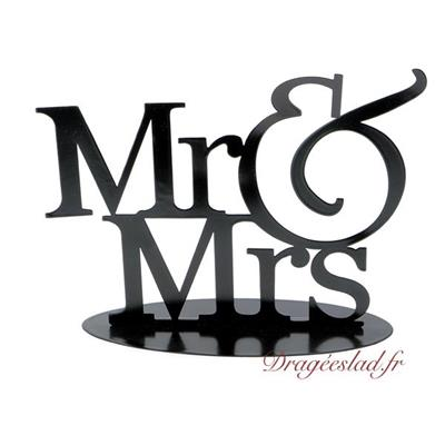 Figurine Mr & Mrs déco noir